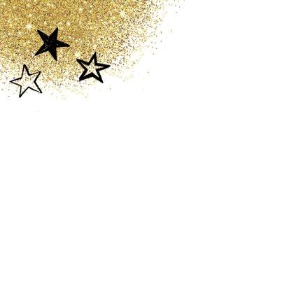 Kerstkaart glitter typografie 2