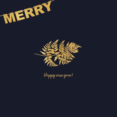 Kerstkaart goud Xmas en foto 2