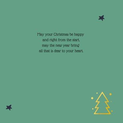Kerstkaart gouden kerstboom groen 2020 3