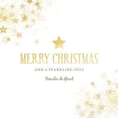 Kerstkaart gouden ster stijlvol Merry Christmas 3