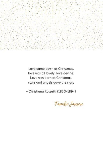 Kerstkaart gouden stippen 3