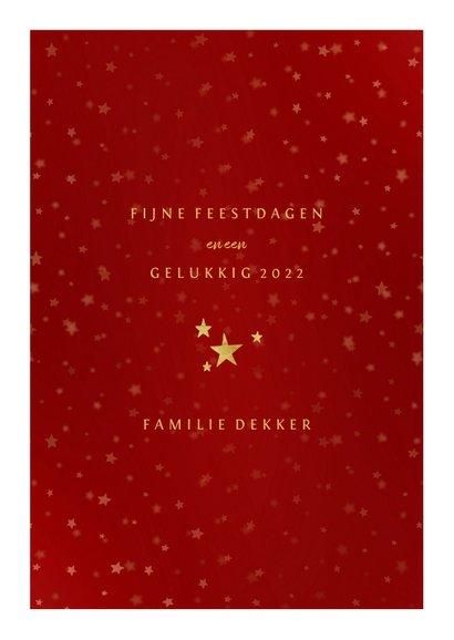 Kerstkaart gouden XMAS met vakjes en foto's 3