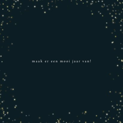 Kerstkaart goudkleurige sterretjes en leuke typografie 3
