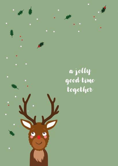 Kerstkaart grappig met eigen foto als rendier 2