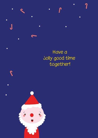 Kerstkaart grappig met kind foto 2
