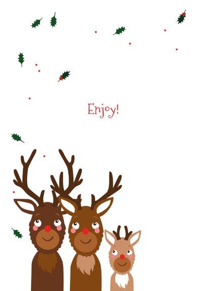 Kerstkaart grappig samen met je kind 2