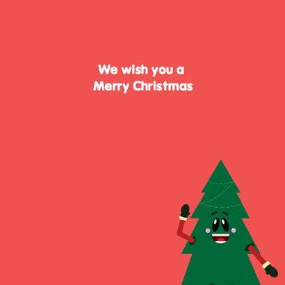Kerstkaart Grappige kerstboom 3