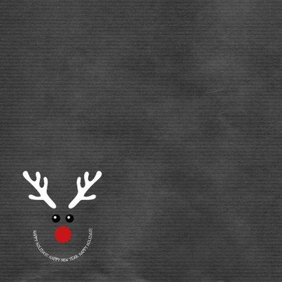 Kerstkaart grappige met illustratie rendier Happy 2