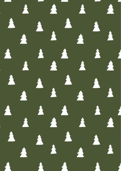 Kerstkaart groen denneboom 2