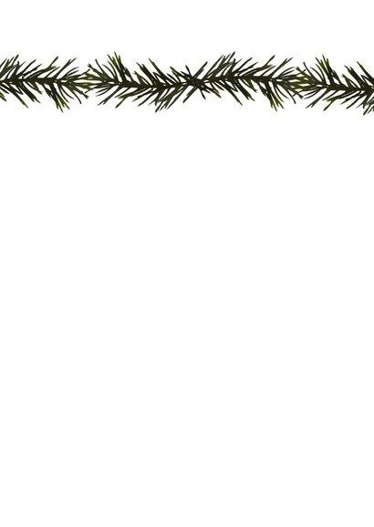 Kerstkaart groen takjes 2