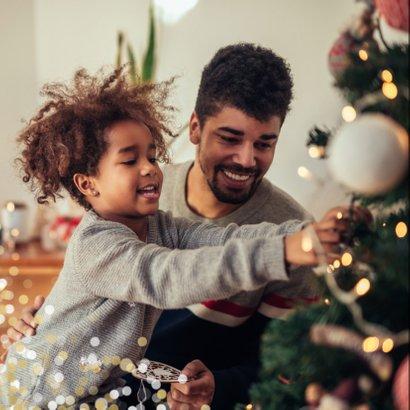 Kerstkaart grote foto Fijne Feestdagen confetti 2