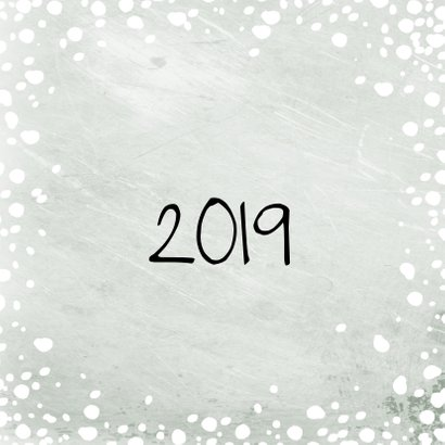 Kerstkaart grote foto met sneeuw 2019 2