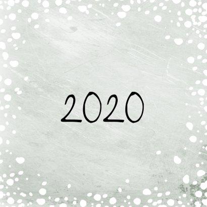 Kerstkaart grote foto met sneeuw 2020 2