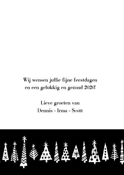 Kerstkaart happy 2020 bomen 3