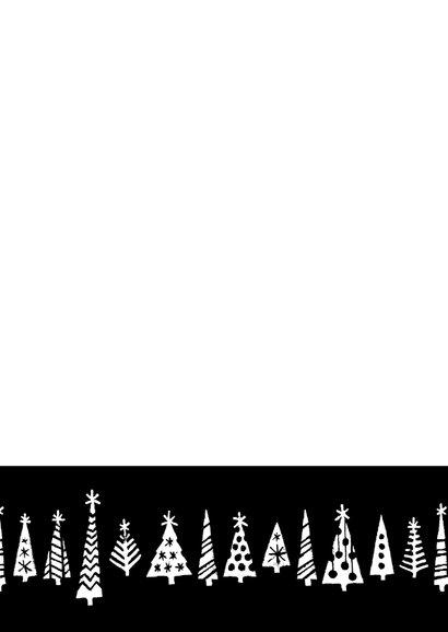 Kerstkaart happy 2021 bomen 2