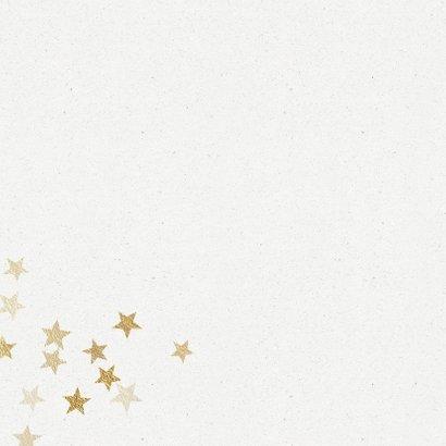 Kerstkaart hart van sterren in goud 2