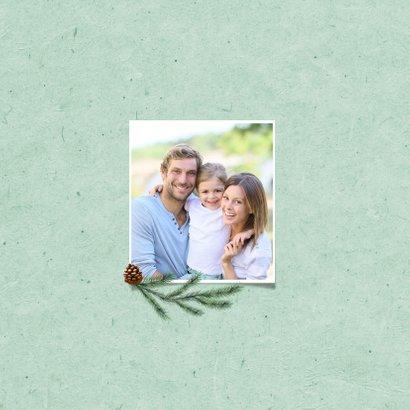Kerstkaart hartje fotocollage groen winter liefde 2