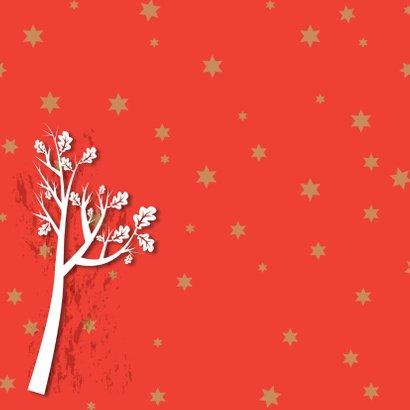 Kerstkaart hert in het bos 2