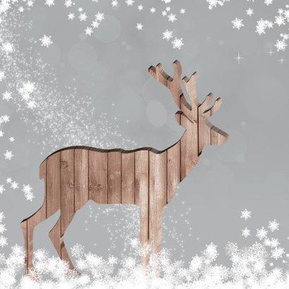 Kerstkaart herten met foto 2
