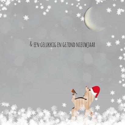 Kerstkaart herten met foto 3