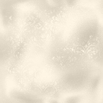 Kerstkaart hertengewei met versiering Achterkant