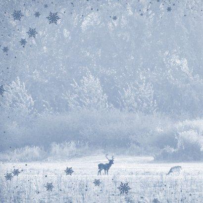 Kerstkaart hertenpaar in de natuur 2