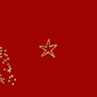 Kerstkaart hip ster confetti foto Achterkant