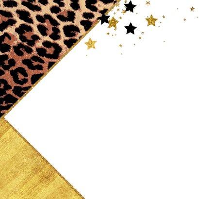 kerstkaart hippe foto kaart panterprint sterren 2021 2