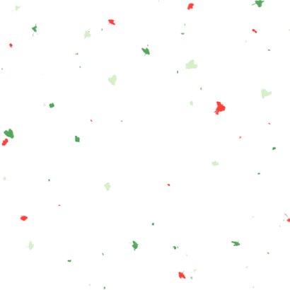 Kerstkaart humor puggy christmas met confetti Achterkant