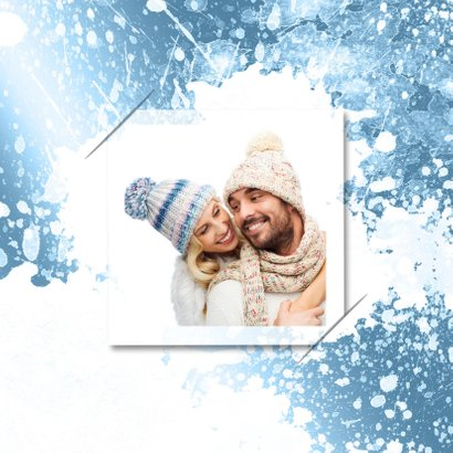 Kerstkaart ijs ster 2019 A RB 2