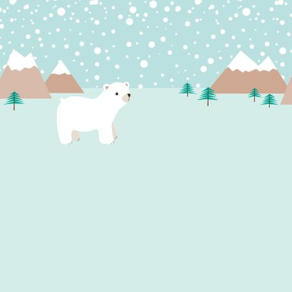Kerstkaart ijsbeer - HB 2