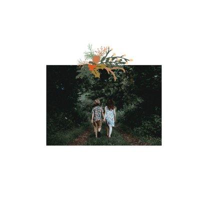 Kerstkaart Joy bloemen -HM 2