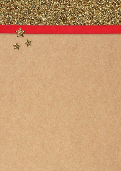 Kerstkaart Kapsalon gouden schaar 2