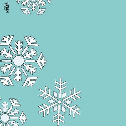 Kerstkaart kat sneeuwsterren - sk 2