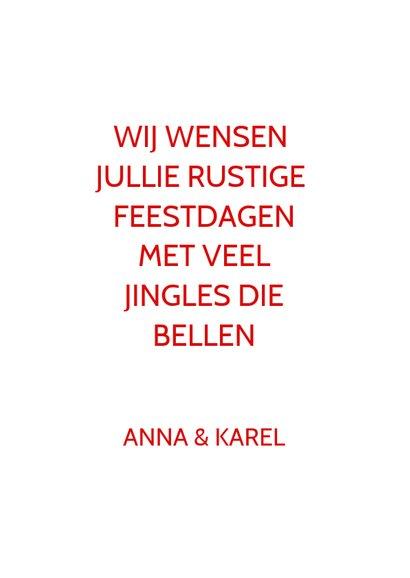 Kerstkaart keep calm jingle bells 3