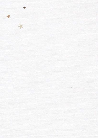 kerstkaart kerstboom fotocollage houtlook sterren 2