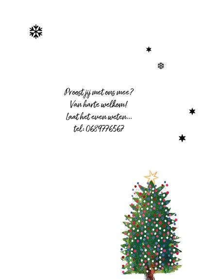 Kerstkaart kerstboom illustratie sfeer 3