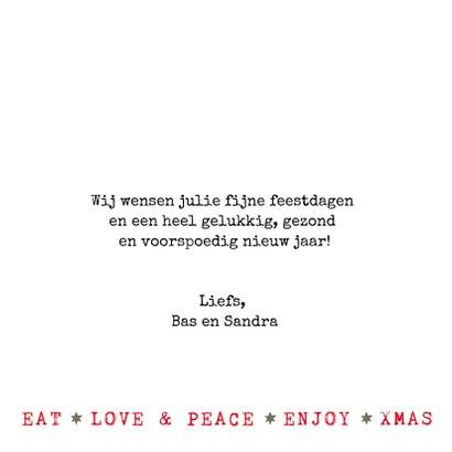 Kerstkaart  - Kerstboom illustraties met  tekst (wit/groen) 3