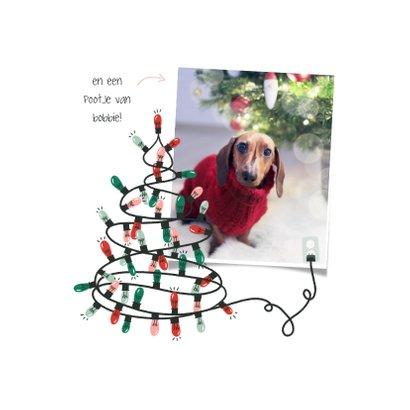 Kerstkaart kerstboom van kerstlampjes fijne kerst 2
