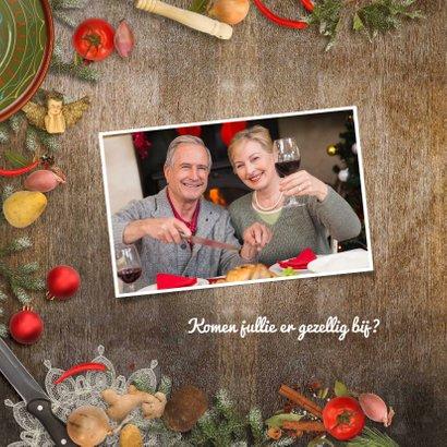 Kerstkaart kerstdiner sfeer keuken 2