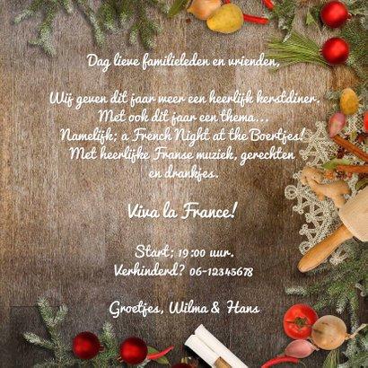 Kerstkaart kerstdiner sfeer keuken 3