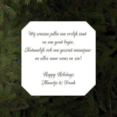 Kerstkaart kersthart en hert 3