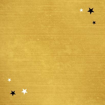 Kerstkaart kerstkus brievenbus liefde kus sterren goud Achterkant
