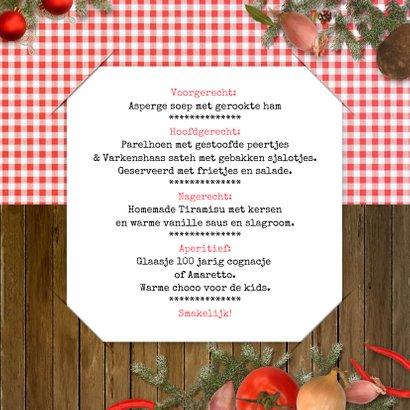 Kerstkaart kerstmenu kerstdiner 3