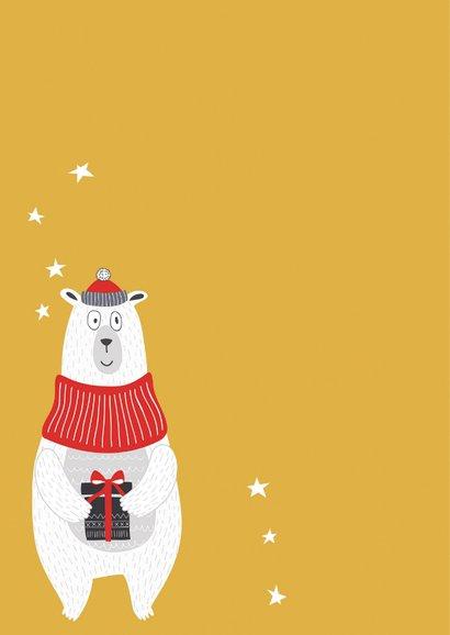 Kerstkaart Kerstmuts op en feesten maar 2