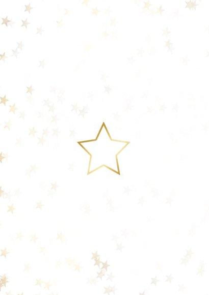 Kerstkaart kerstster van goud - Een gouden kerst 2