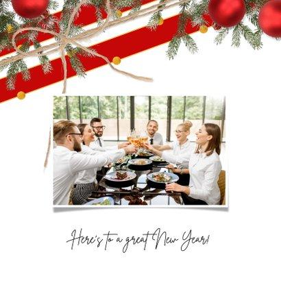 Kerstkaart klassiek en feestelijk rood 2