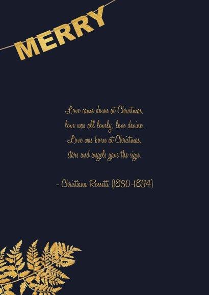 Kerstkaart label goud Xmas 2