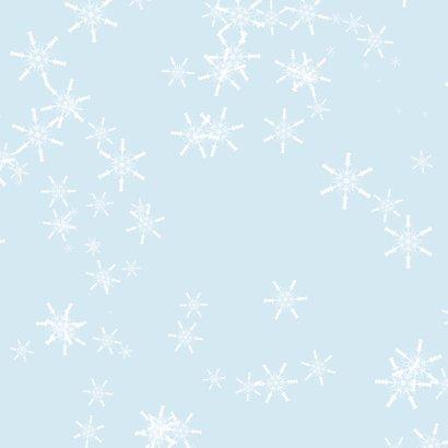 Kerstkaart lachende sneeuwpop 2