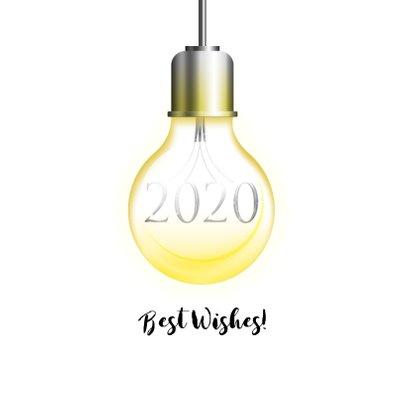 Kerstkaart let it shine lichtpeertjes 2020 2
